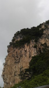 Batu caves and an overcast sky