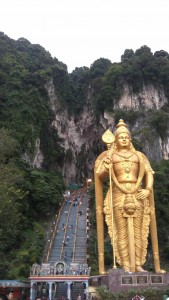 Giant Murugan statue at Batu caves