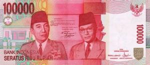100000 rupiah note