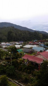 View of tanah rata town from our apartment