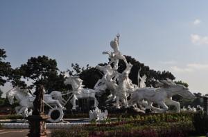 Sculpture at ngurah rai airport in Bali