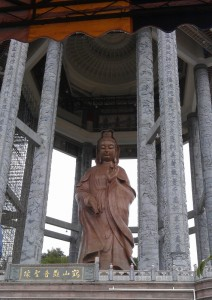 Gaint buddha at Kek Lok Si pagoda in Penang