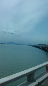 The bridge that links Penang island with Butterworth in mainland