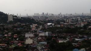 View of Penang island atop Kek Lok Si Pagoda